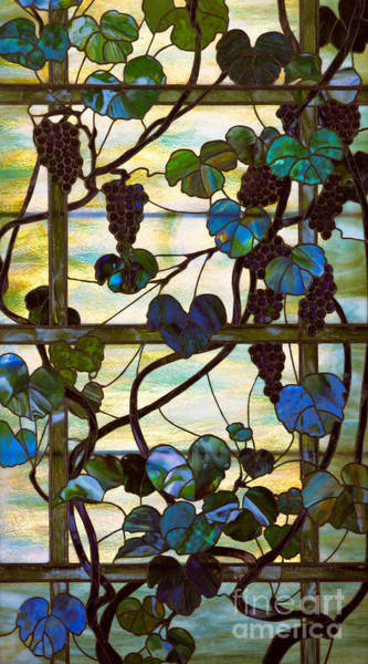 Wall Art - Glass Art - Grapevine by Louis Comfort Tiffany