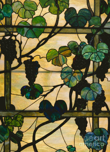 Wall Art - Glass Art - Grapevine Panel by Louis Comfort Tiffany