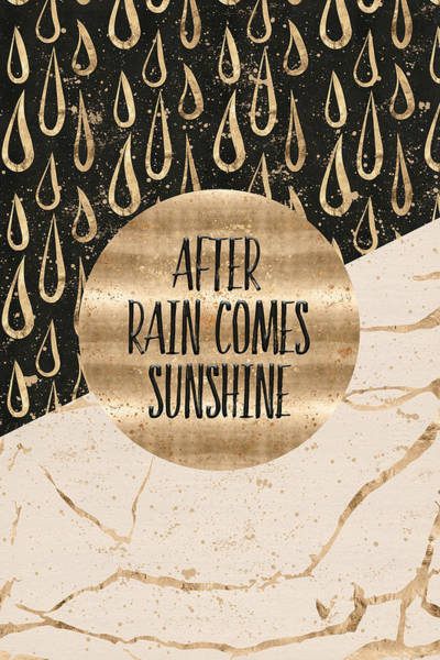 Life After Life Wall Art - Digital Art - Graphic Art After Rain Comes Sunshine by Melanie Viola
