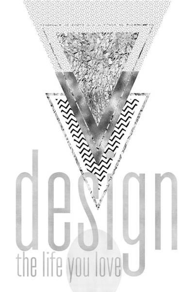 Wall Art - Digital Art - Graphic Art Design The Life You Love - Silver by Melanie Viola