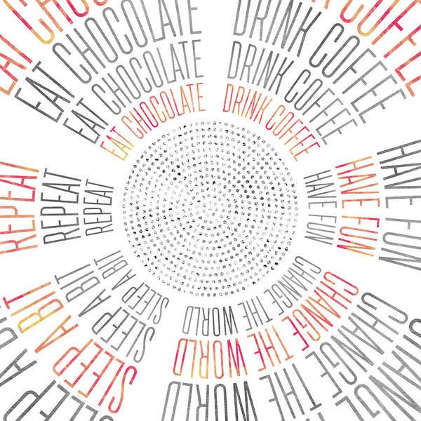 Wall Art - Digital Art - Graphic Art Life Circles by Melanie Viola