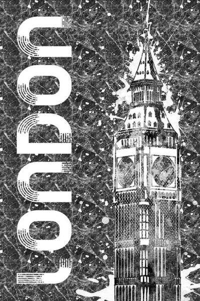 Wall Art - Digital Art - Graphic Art London Big Ben  by Melanie Viola