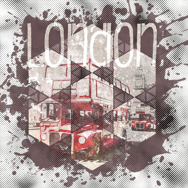 Wall Art - Photograph - Graphic Art London Streetscene by Melanie Viola