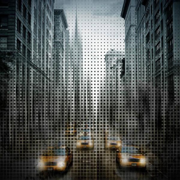 Wall Art - Photograph - Graphic Art Nyc 5th Avenue Traffic V by Melanie Viola
