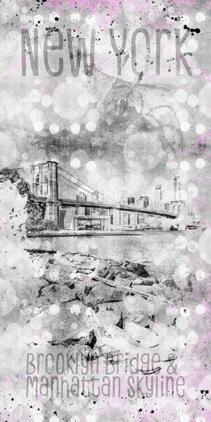 Wall Art - Photograph - Graphic Art Pebble Beach View To Manhattan by Melanie Viola