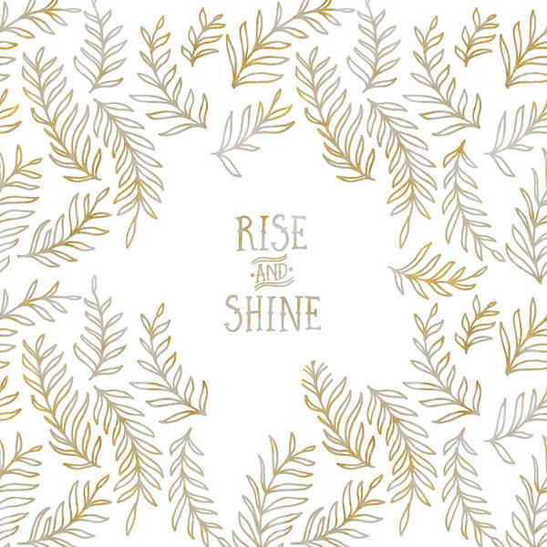Wall Art - Digital Art - Graphic Art Rise And Shine - Gold And Marble by Melanie Viola