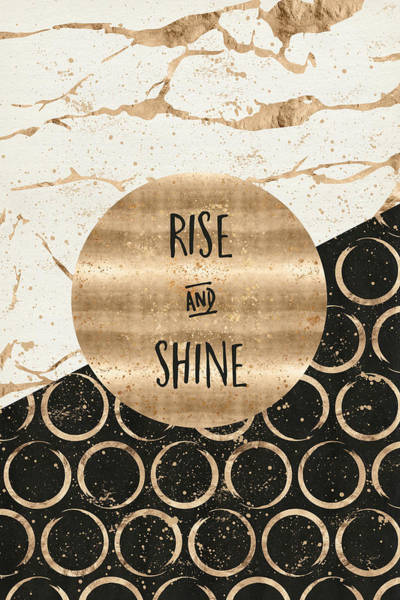 Wake Up Digital Art - Graphic Art Rise And Shine by Melanie Viola