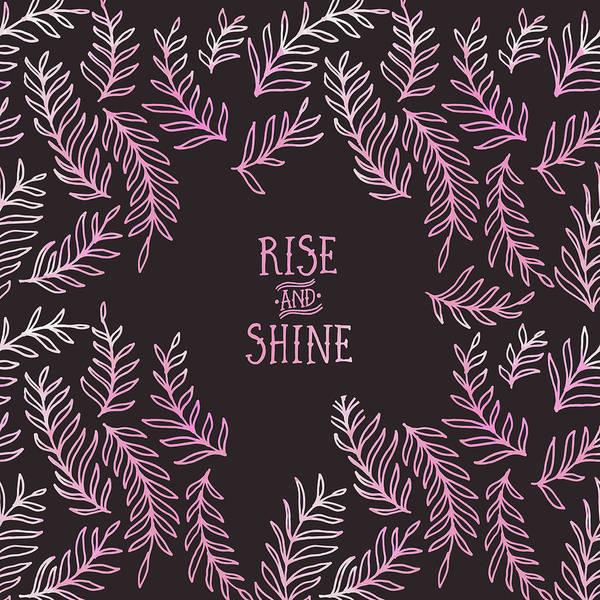 Wall Art - Digital Art - Graphic Art Rise And Shine - Pink by Melanie Viola