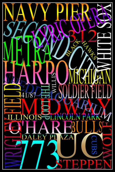 Photograph - Graphic Chicago 1 by Andrew Fare