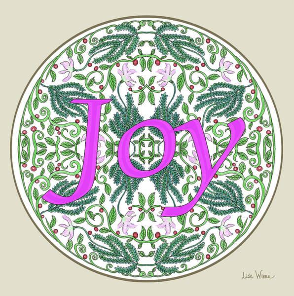 Digital Art - Graphic Designs Button Joy by Lise Winne
