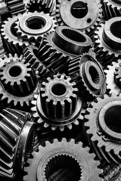 Deterioration Photograph - Graphic Old Gears by Garry Gay