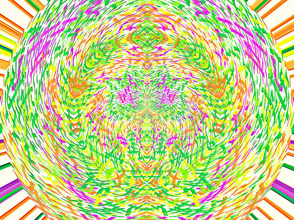 Digital Art - Grass World 1 Polar by Julia Woodman