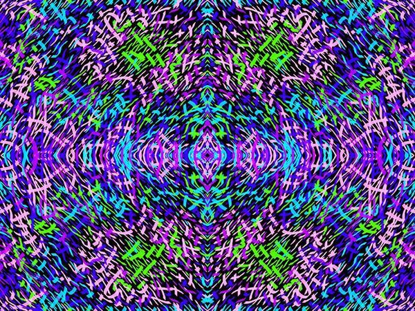 Digital Art - Grassworld 2 Purple Blue by Julia Woodman