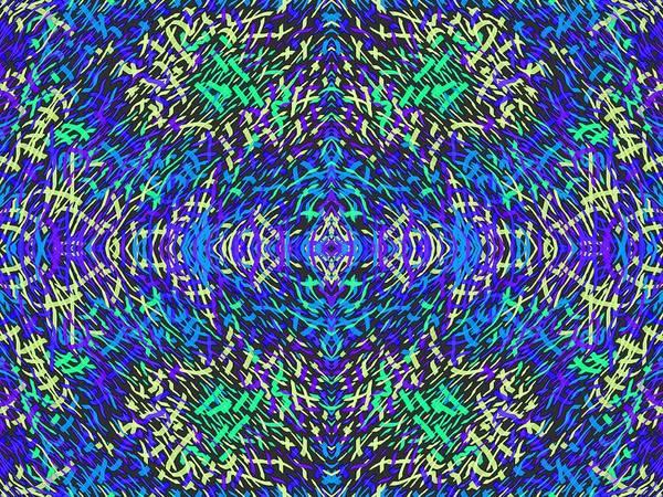 Digital Art - Grassworld 2 Yellow Blue by Julia Woodman
