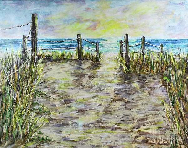 Painting - Grassy Beach Post Morning 2 by Janis Lee Colon