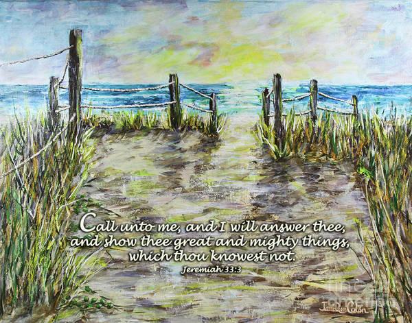 Digital Art - Grassy Beach Post Morning 2 Jeremiah 33 by Janis Lee Colon