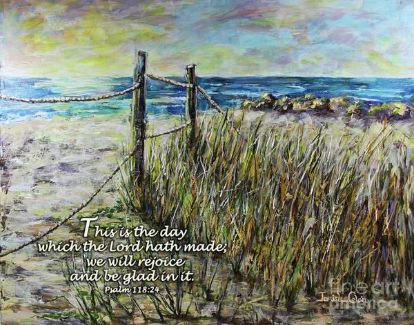Digital Art - Grassy Beach Post Morning Psalm 118 by Janis Lee Colon
