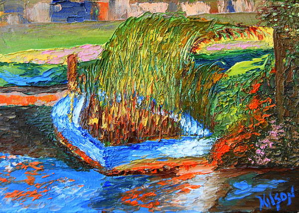 Painting - Grassy Boat by Chrys Wilson