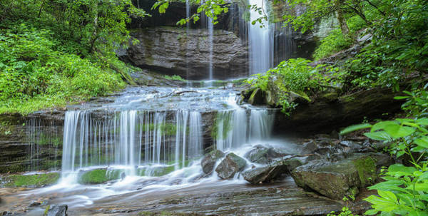 Photograph - Grassy Creek Falls In Little Switzerland In Blue Ridge Parkway Panorama by Ranjay Mitra