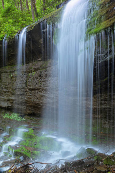 Photograph - Grassy Creek Waterfall In Blue Ridge Parkway by Ranjay Mitra