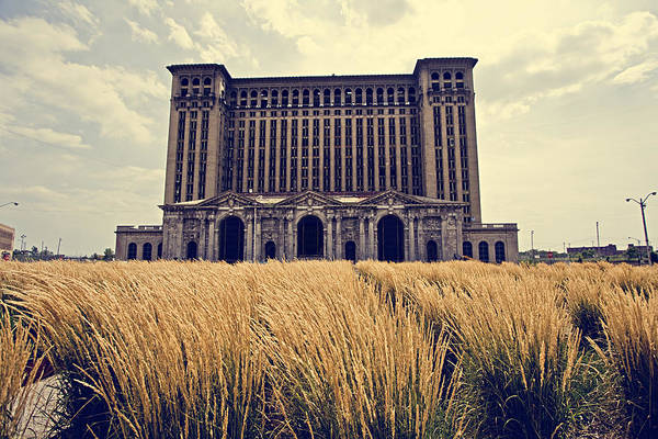 Detroit Photograph - Grassy Michigan Central Station - Detroit by Alanna Pfeffer
