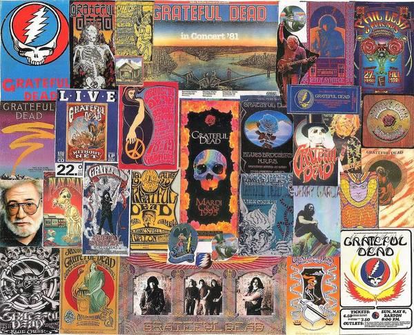 Wall Art - Digital Art - Grateful Dead Collage by Doug Siegel