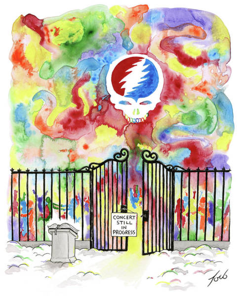 Gate Drawing - Grateful Dead Concert In Heaven by Tom Toro