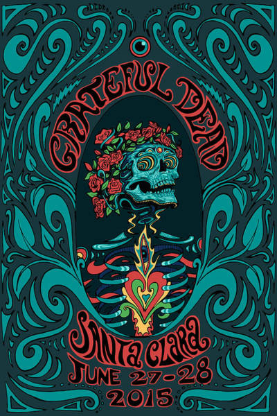 Wall Art - Digital Art - Grateful Dead Santa Clara 2015 by Gd