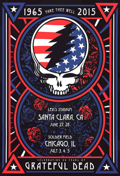 Wall Art - Digital Art - Grateful Dead Santa Clara Ca by The Saint