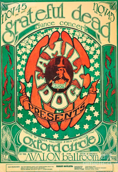 Wall Art - Painting - Grateful Dead Vintage Poster by Pd