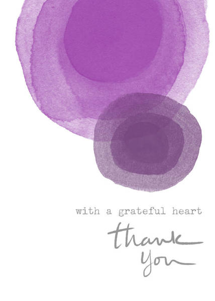 Set Design Wall Art - Mixed Media - Grateful Heart Thank You- Art By Linda Woods by Linda Woods