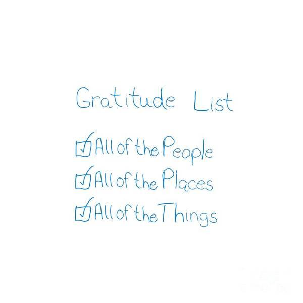Digital Art - Gratitude List by Rachel Hannah