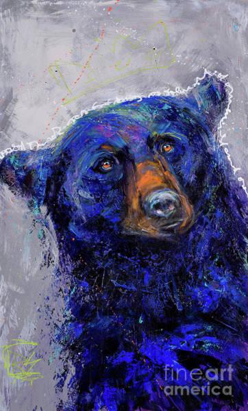 Rosemary Painting - Gratitude Series Black Bear II by Rosemary Conroy