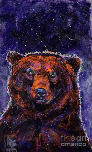 Rosemary Painting - Gratitude Series Grizzly Bear 3 by Rosemary Conroy