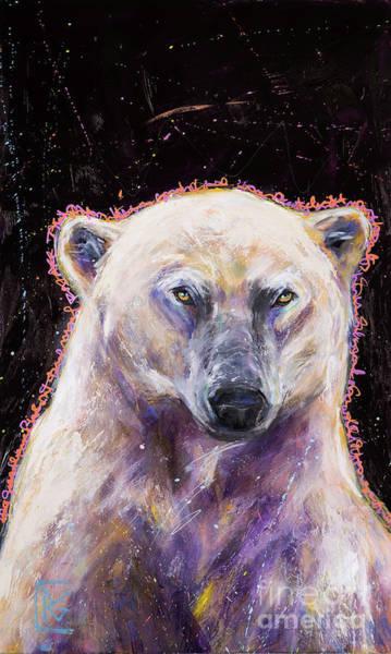 Rosemary Painting - Gratitude Series Polar Bear by Rosemary Conroy