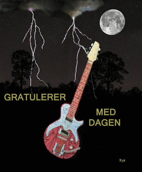 Gratulerer Med Dagen Art Print