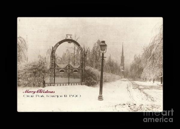 Photograph - Gratz Park Christmas by David Neace