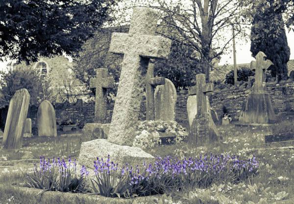 Photograph - Grave Covered In Bluebells by Jacek Wojnarowski