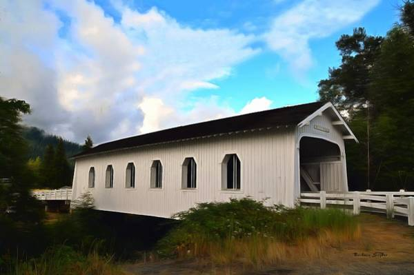 Interstate 5 Wall Art - Photograph - Grave Creek Bridge Grants Pass Oregon Painting by Barbara Snyder