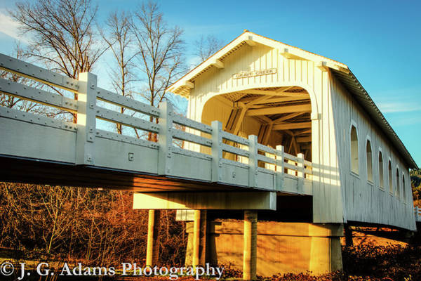 Photograph - Grave Creek Covered Bridge by Jim Adams