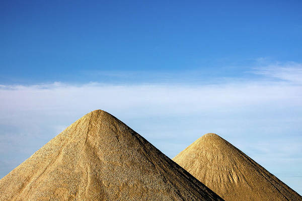 Gravel Road Photograph - Gravel Pyramids by Todd Klassy