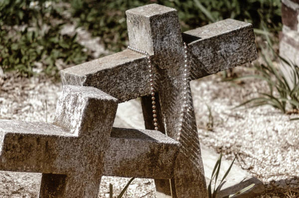 Photograph - Graveside Crosses by Jim Shackett