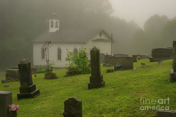 Photograph - Graveyard And Church In Mist by Thomas R Fletcher