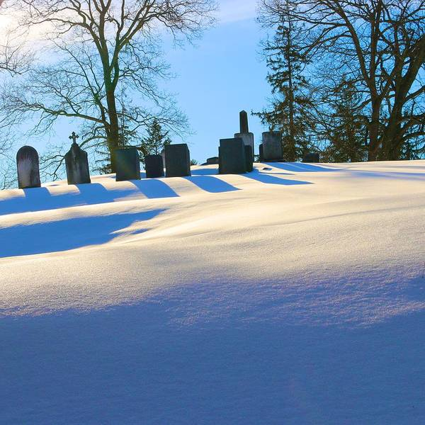 Photograph - Graveyard In Snow by Polly Castor
