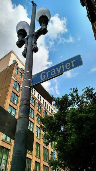 Street Sign Photograph - Gravier Street  by Britten Adams