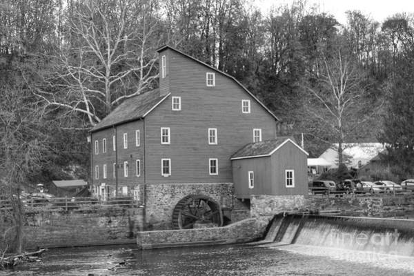 Photograph - Gray Autumn At The Old Mill In Clinton by Christopher Lotito