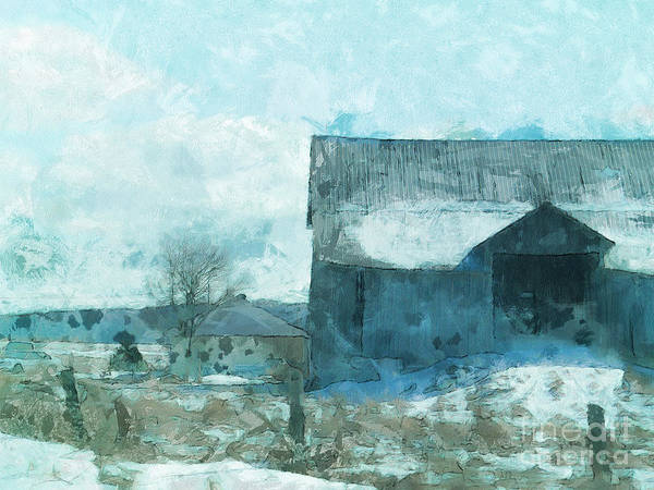 Photograph - Gray Barn by Claire Bull