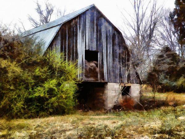 Digital Art - Gray Barn by JGracey Stinson