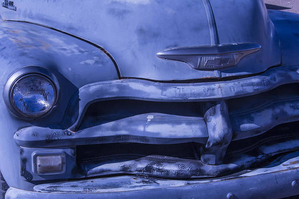 Clunker Wall Art - Photograph - Gray Chevrolet by Garry Gay