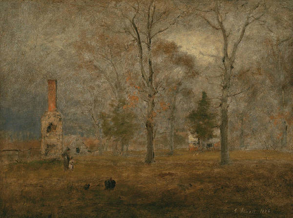 Painting - Gray Day, Goochland by George Inness